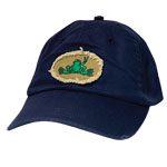 Peace Frogs Frayed Oval Baseball Hat