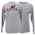 Peace Frogs Granite American Flag Adult Long Sleeve T-Shirt
