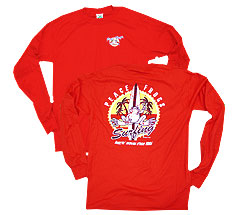 Peace Frogs Surfing Adult Long Sleeve T-Shirt
