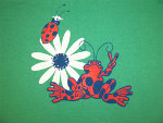 Peace Frogs Flower Bugs Junior Long Sleeve T-Shirt