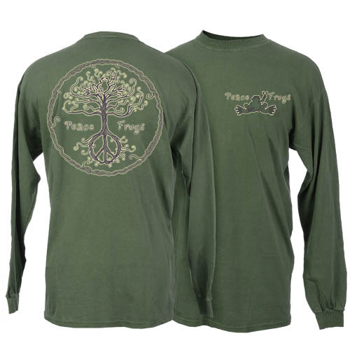 Peace Frogs Wild Tree Adult Long Sleeve T-Shirt