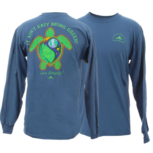 Peace Frogs Live Simply Adult Long Sleeve T-Shirt