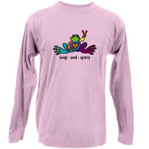 Peace Frogs Body Soul Spirit Adult Long Sleeve T-Shirt