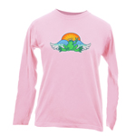 Peace Frogs Angel Sunset Adult Long Sleeve T-Shirt