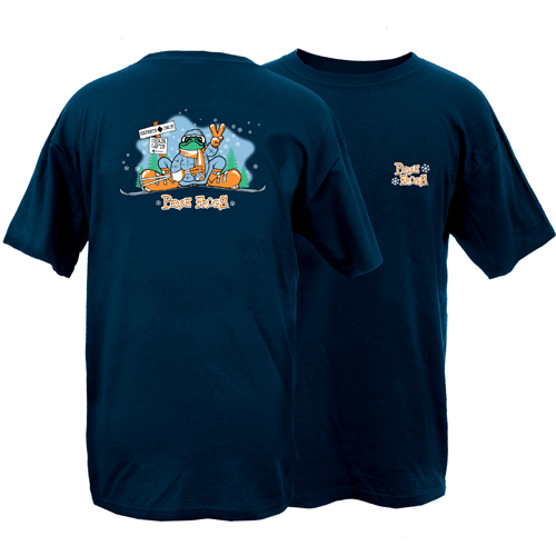Peace Frogs Adult Ski Short Sleeve T-Shirt