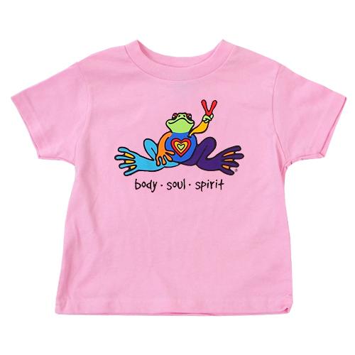 Peace Frogs Body Soul Spirit Toddler Short Sleeve T-Shirt
