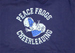 Peace Frogs Navy Cheerleading Printed Adult Hooded Pullover Sweatshirt