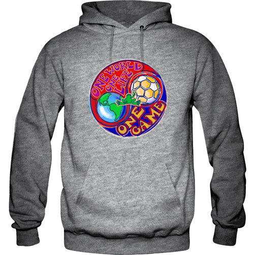 Peace Frogs One World Printed Adult Hooded Pullover Sweatshirt