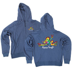 Peace Frogs Retro Printed Youth Hooded Pullover Sweatshirt