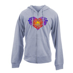 Peace Frogs Tonal Heart Full Zip French Terry Adult Sweatshirt