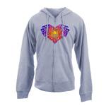 Peace Frogs Tonal Heart Full Zip French Terry Adult Sweatshirt