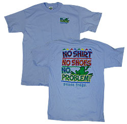 Peace Frogs Adult No Problem Short Sleeve T-Shirt