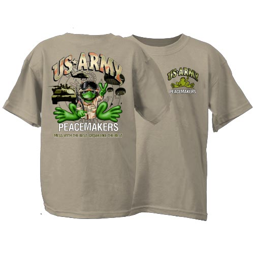 Peace Frogs US Army Short Sleeve Kids T-Shirt 826c9795664
