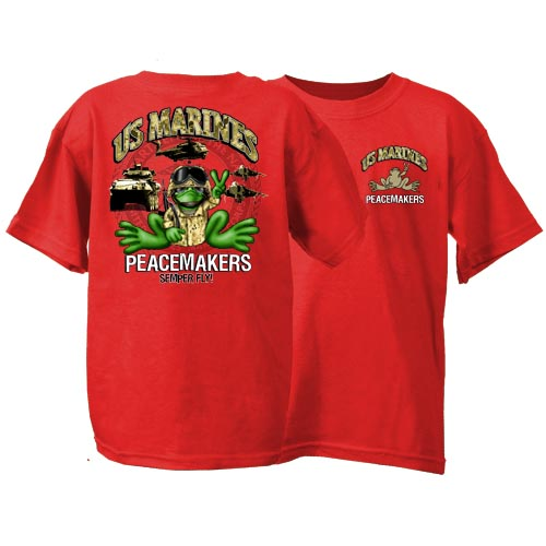 Peace Frogs US Marine Short Sleeve Kids T-Shirt