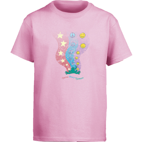 Peace Frogs Dream Peace Short Sleeve Kids T-Shirt