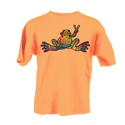 Peace Frogs Hope Short Sleeve Kids T-Shirt
