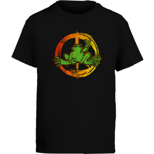 Peace Frogs Neon Peace Short Sleeve Kids T-Shirt