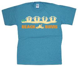 Peace Frogs Adult Beach Bum Short Sleeve T-Shirt