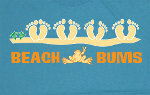 Peace Frogs Adult Beach Bum Short Sleeve T-Shirt