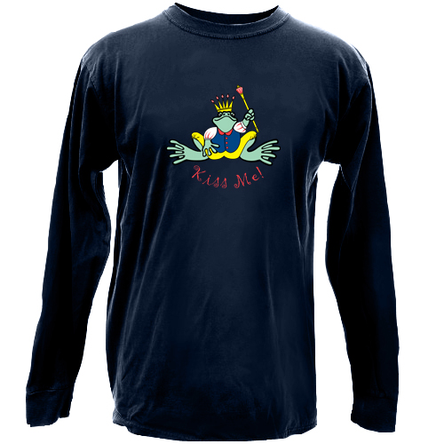 Peace Frogs Frog Prince Long Sleeve Kids T-Shirt