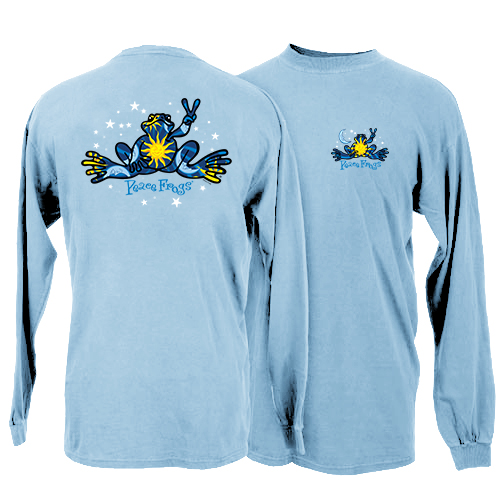 Peace Frogs Night And Day Long Sleeve Kids T-Shirt