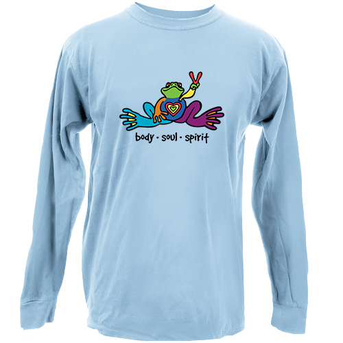 Peace Frogs Body Soul Spirit Long Sleeve Kids T-Shirt