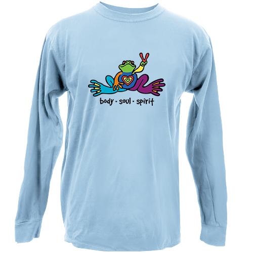 Peace Frogs Body Soul Spirit Long Sleeve Kids T-Shirt