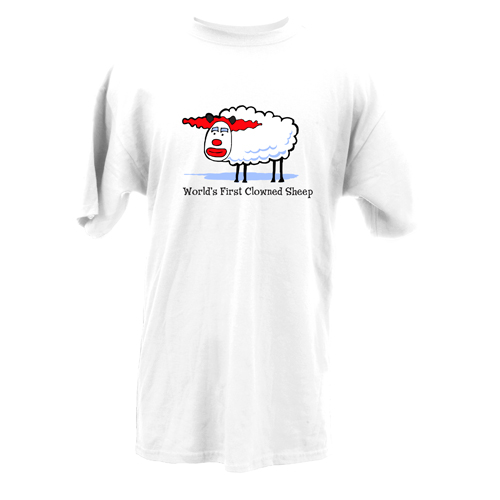 Beyond The Pond Adult Clowned Sheep Short Sleeve T-Shirt
