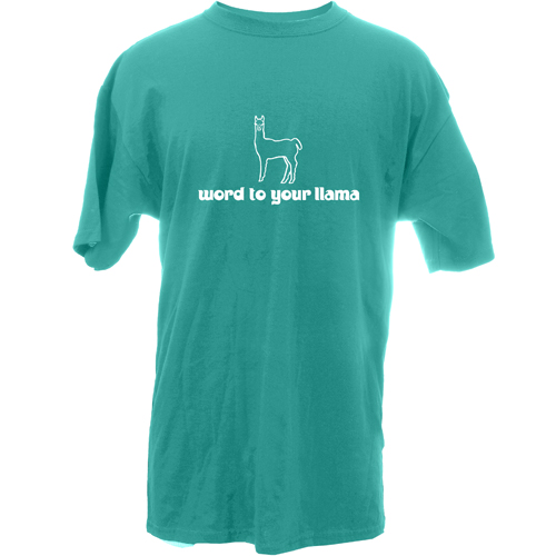 Beyond The Pond Adult Word To Your Llama Short Sleeve T-Shirt