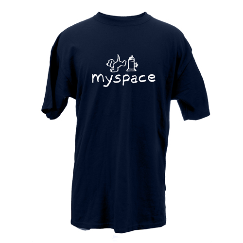 Beyond The Pond Adult My Space Dog Short Sleeve T-Shirt